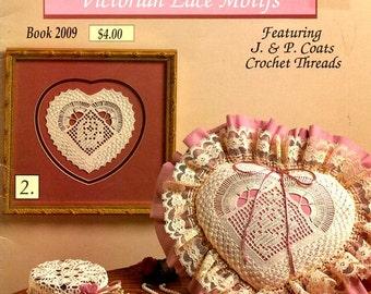 Victorian Lace Motifs Star Basket Jar Cover Filet Rose Heart Pillow Pineapple Romantic Lace Evening Bag Crochet Craft Patterns Leaflet 2009
