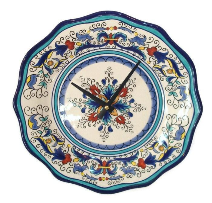 Plate Clock Wall Decor Wall Clock Kitchen Clock by