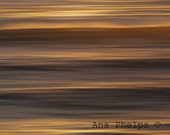 """Waves in the evening, """"Liquid Gold"""". Fine Art Photography."""