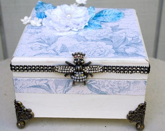 Shabby Chic Box Trinket Jewelry Box