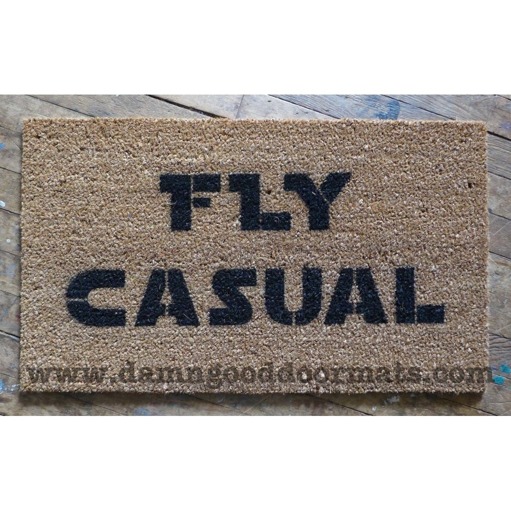 Fly casual door mat novelty geek nerd star wars han solo - Geeky welcome mats ...