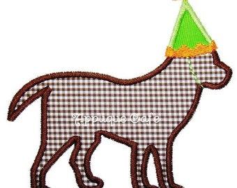 270 Birthday Dog Machine Embroidery Applique Design