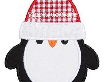 391 Penguin Machine Embroidery Applique Design