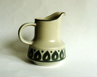 Fashion Manor Moor Pattern Stoneware Vintage Cream Pitcher