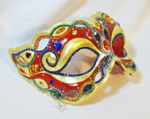 CUSTOM Masquerade Ball Mask - Red Mask - Masquerade Mask - Rhinestone Mask - Venetian Mask - Jeweled Mask - Dream Weaver