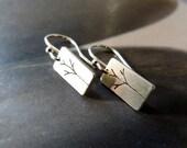Trees Sterling silver earrings, dangle earrings, natural jewelry, small earrings