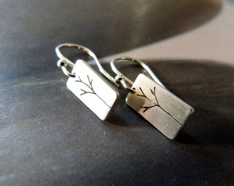 Trees silver earrings, dangle earrings, everyday wear, affordable gift, gift for her, gift for mother, gift for sister, anniversary gift