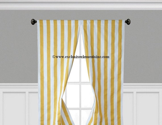 Yellow Striped Curtains Kendal 50 Quot X84 Quot Yellow