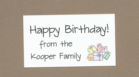 Birthday Gift Enclosure Cards - Calling Cards - Stack of Presents