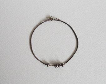 Vintage sterling silver snake chain bracelet