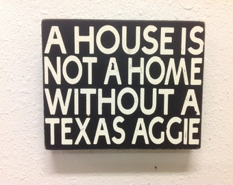 Texas Aggie sign shelf sitter primitive sign