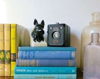 Blue Vintage Books Set for Home Decor Photography Prop Interior Design Weddings Office or Library Decor or Your Book Shelf
