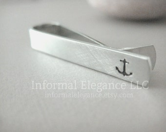 Small Tie Bar with Anchor, Gifts for Men, Boyfriends, Husbands, Anniversary, Groom Gift, Sailing Gift, Captain Gift, Sailor, Dad Gift