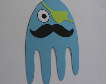 Octopus Paper Piecing, Customizable, Scrapbook Embelishment, Paper Crafts