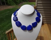 Royal Blue Gemstone Necklace