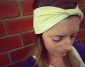 You Are My Sunshine Twisted Jersey Turban Headband - Womens Organic Accessory - Hand Dyed - Summer Beach Hair - Ready To Ship