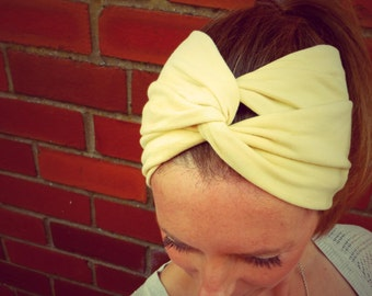 You Are My Sunshine Double-Up Jersey Turban Headband - Womens Organic Accessory - Hand Dyed - Summer Beach Hair - Ready To Ship