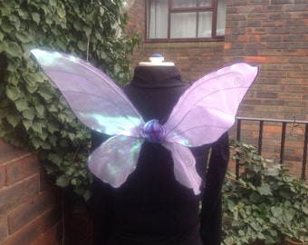 Beautiful Medium Tinkerbell style Purple Sparkly Fairy Wings