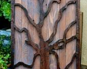 Rustic Home Decor - Reclaimed Wood - Tree - Wall Art - Rustic Home Decor - Artistic - Honeystreasures - Wall Hanging