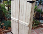 Custom Listing for Shannon - Rustic White Jewelry Cabinet - See Description for changes