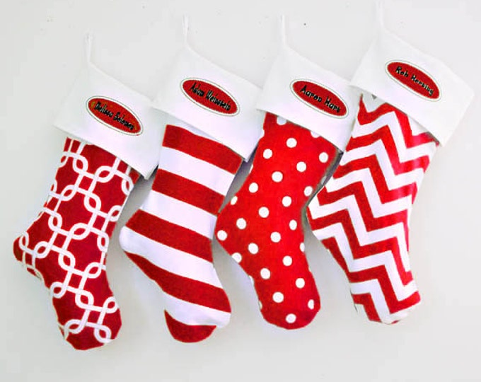 Modern Christmas Stockings, well made and large stockings, Family Set of Stockings, Matching Christmas Stockings, Holiday Decor, Presents