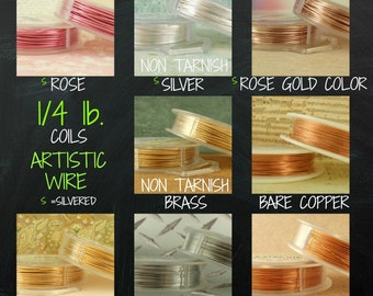 Artistic Wire - 1/4 lb - Permanently Colored - You Pick Gauge 18, 20 or 22 - 100% Guarantee