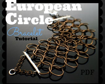 European Circles Bracelet Tutorial pdf - Expert Instructions for this Fast and Easy Project