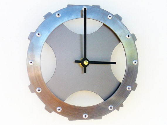 Gear I Modern Wall Clock (Metal)