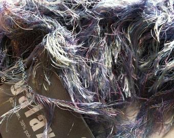 Artful Yarns Galaxy #270 Jupiter Blue Lilac Yellow Green Eyelash Yarn 50 gram