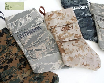 Military Christmas Stocking  - Army, Navy, Marines, Air Force, Coast Guard