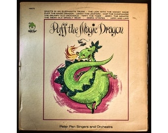 Glittered Vintage Puff the Magic Dragon Album