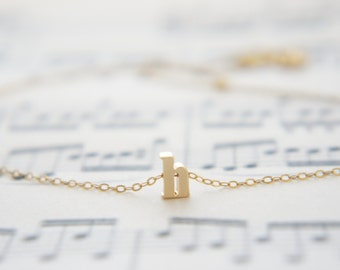 """Gold Letter, Alphabet, Initial  """"h"""" necklace, birthday gift, lucky charm, layered necklace"""