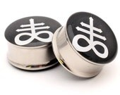 Leviathan Picture Plugs Style #2 gauges - 16g, 14g, 12g, 10g, 8g, 6g, 4g, 2g, 0g, 00g, 1/2, 9/16, 5/8, 3/4, 7/8, 1 inch