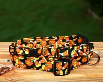 Halloween Fall Candy Corn Pumpkin Dog Collar