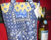 French Country Double Wine Bag  Great Hostess Gift REDUCED CLOSING SHOP