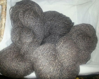 Pure Alpaca in Grey Tweed - Beautiful From Irish Meadows