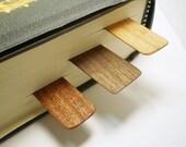 Wooden Bookmarks - Black Walnut, Mahogany, Ash