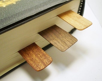 Wooden Bookmarks - Black Walnut, Mahogany, Ash