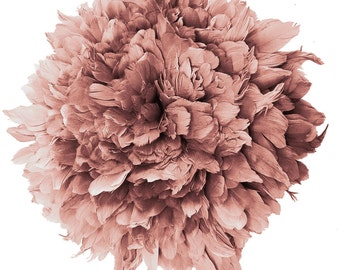 1/2 yard Vogue goose Feathers Fringe - Goose Nagorie in Rosewood - Spectacular quality (1/2yard) (017)