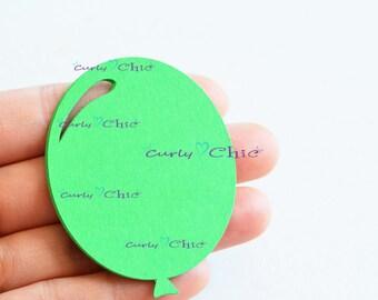 """60 Balloon Die Cut Size 2.50"""" -Paper Balloon Tags -Cardstock Balloon Labels -Cardstock die cuts -Paper tags -Balloon Labels -Paper Balloon"""