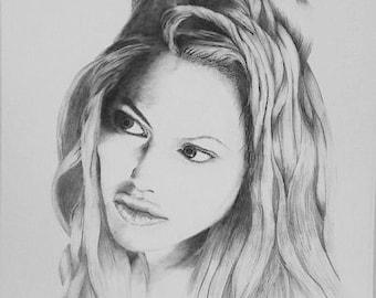 Hand drawn pencil portraits