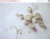 On Sale Rose Gold Long Dangle Earrings