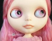 New Soft Resin OOAK REALISTIC custom Blythe eye chips set E6 , by Ana Karina. UV laminated