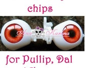 New Soft Resin OOAK REALISTIC custom Pullip, Dal, Taeyang eye chips set F22, by Ana Karina. UV laminated