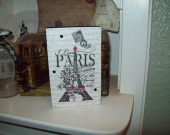 EIFFEL Tower block sign PARIS decor,Paris theme,Paris bedroom decor,Paris nursery decor,Paris birthday decor,Paris baby shower