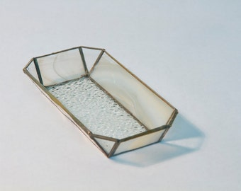 Beige Glass Tray
