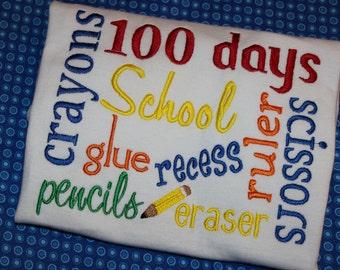 100 days of school shirt, bodysuit, or dress