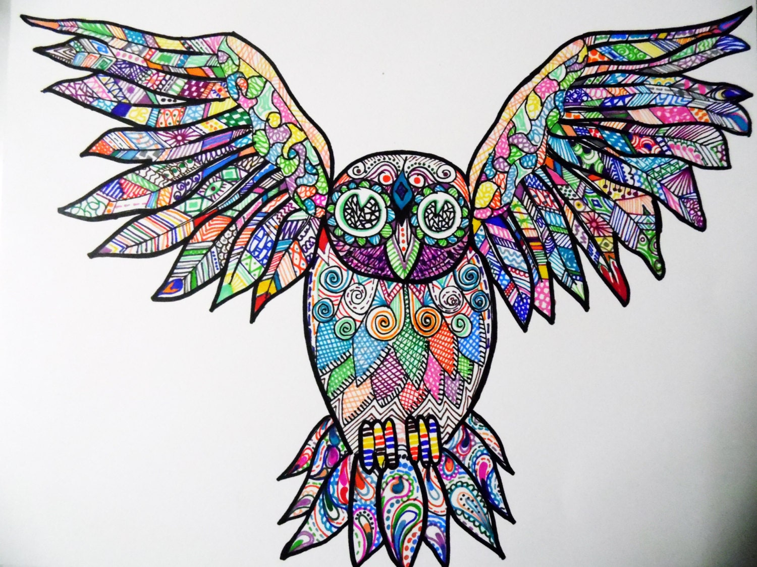 Pics For > Cool Colorful Drawings In Sharpie