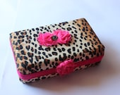 Cheetah Pencil Case, Art Box, Pencil Box, Crayon Box