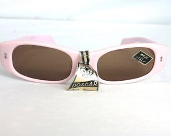 Vintage 1950s Sunlasses // 50s NOS Italian Rockabilly Pink Sunglasses with Original Lenses